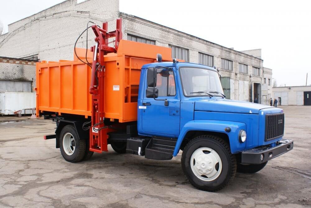 мусоровоз подходит для вывоза бытового и промышленного мусора из контейнеров частных домов и предприятий в Крупках